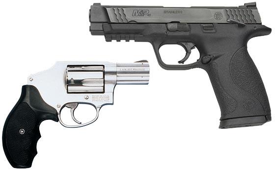 revolver o pistola semi automatica